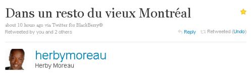 """' Em um restaurante da """"Velha Montreal"""""""